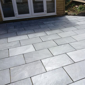 Black Slate Paving Tile / Paving Slab for Outdoor Patio