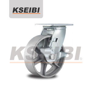 Heavy Duty Swivel Kseibi Cast Iron Wheel Caster for Trolley pictures & photos