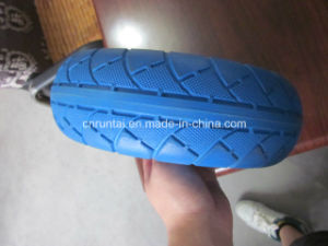 Hot Sell Blue Color Good Quality PU Form Wheel (3.50-4) pictures & photos