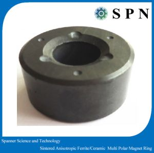 Permanent Ferrite Sintered Multipole Magnet Rings pictures & photos