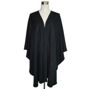Women Fashion Black Acrylic Knitted Long Shawl (YKY4109-1) pictures & photos