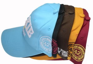 Six Panels Embroidery Sports Cotton Cap with Adjustable Velcro Strap pictures & photos