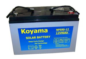 12V90ah Solar System Battery with Top Quality pictures & photos