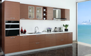 Custom Melamine Commercial Modern Kitchen Cabinet Furniture (zg-048) pictures & photos
