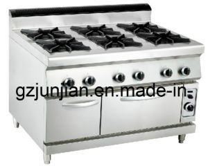 Gas 6-Burner Range with Gas Oven (LUR-890-6GV) pictures & photos