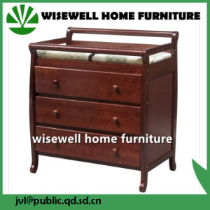 Wood 3 Drawer Chaning Table Dresser pictures & photos