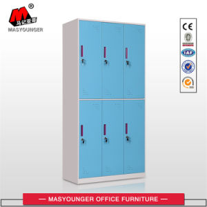 Colorful 6 Doors Steel Cabinet Clothes Locker pictures & photos
