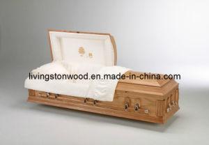 American Style Solid Oak Casket (Stellar)