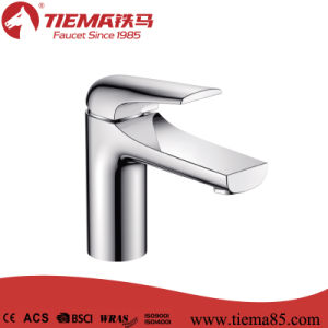 New Design Brass Bathroom Wash Basin Faucet (ZS40203) pictures & photos