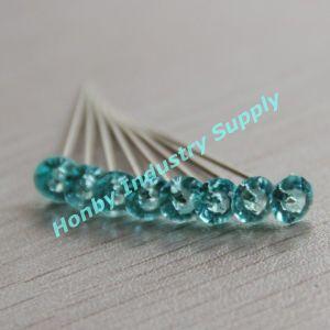 Crystal Diamante Head Nickel Plated Steel Pins