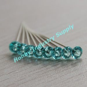 Crystal Diamante Head Nickel Plated Steel Pins pictures & photos
