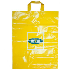 Sell Plastic Bags with Loop Handle, Printed Plastic Bags with Customized Design (HF-506) pictures & photos