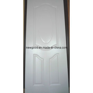 White Melamine Molded/Moulded HDF Door Skin pictures & photos