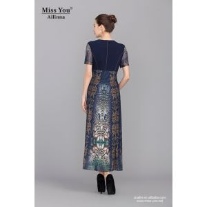 Miss You Ailinna 101976-1 Long Dress OEM A-Line Floral Dress Manufacturer pictures & photos