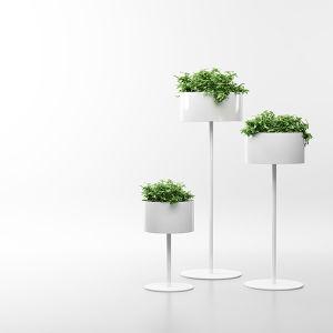 Uispair 100% Steel Floor Round Planter Flowerpot for Modern Office Garden Decoration pictures & photos