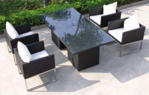 Outdoor Restaurant Dining Set Rattan Chairs and Table pictures & photos