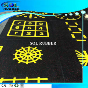 Premium Quality Bright Color Gym Floor Rubber Tile pictures & photos