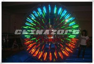 Customized Amazing Lighting Inflatable Zorb Roller at Factory Price