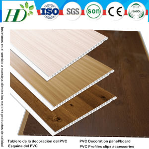 25cm*6mm/7mm/8mm Laser Hot Stamping PVC Ceiling Panel Wall Panling (RN-118) pictures & photos