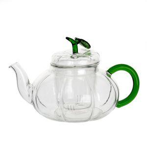 750ml Stainless Steel Heat Resistant Pumpkin Shape Glass Teapot pictures & photos