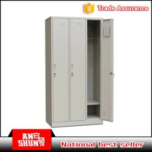 China Manufacture 3 Compartment Steel Changing Almirah pictures & photos