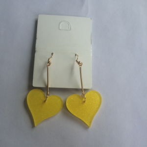 Long Heart Plastic Earring Metal Fashion Jewelry Decoration Summer pictures & photos
