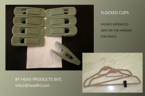 Swivel Hook Flocked Velvet Adult Clothes Hanger with Big Suit Shoulder pictures & photos