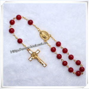 Handmade Religious Resin Cross Bead Car Rosary (IO-CB009) pictures & photos
