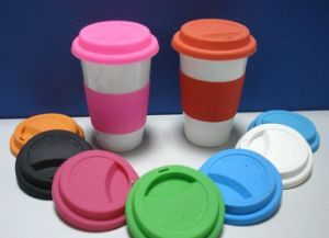 Food Grade Durable Silicone Drink Cup with Lid (Flying-131501) pictures & photos