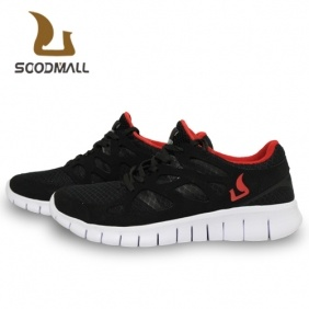 Soodmall Men′s Fashion Sport Shoes Red and Black (S-4PS)