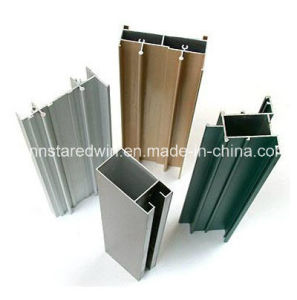 6063-T5 Aluminum Profile for Casement Window in Bronze Powder Coating pictures & photos