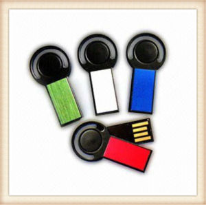 2015 Newest Red Swivel Mini Stick Shape USB Pendrive (EM022) pictures & photos
