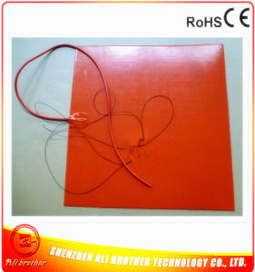 550*550*1.5mm Silicone Rubber 3D Printer Heater 230V 500W 3m 100k Thermistor 1000mm Lead pictures & photos