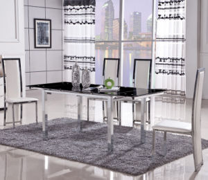 Stainless Steel PU Leather Dining Room Table Chair (ET11& EC32)