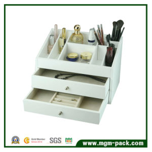 White Lacquered Wooden Jewelry Storage Box pictures & photos