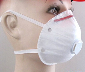 Non-Woven Disposable Mask with Exhalation Valve pictures & photos