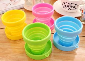 170ml Collapsible Folding Silicone Cup with Cover pictures & photos
