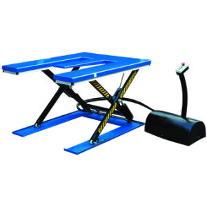 ′e′ Shape Low Profile Electric Hydraulic Scissor Lift Table pictures & photos