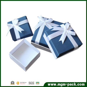 High Quality Custom Jewelry Paper Box with Ribbon pictures & photos