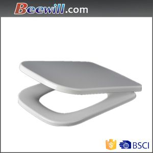 Bathroom Ware, Rectangular Shape Toilet Seat with Slow Down pictures & photos