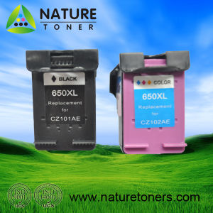Remanufactured Ink Cartridge 650XL Bk (CZ101AE) , 650XL Color (CZ102AE) for HP Printer pictures & photos