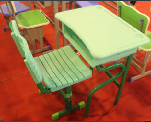 Lb-Zs012 Plastic School Desk and Chair with Good Quality pictures & photos