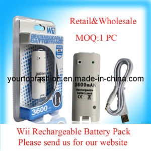 3600mAh Rechargeable Battery Pack, Battery Pack for Wii