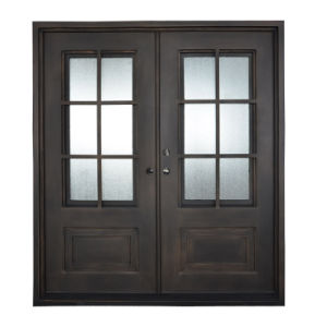 Luxury America Standard Iron Grill Entry Door with Window Designs pictures & photos