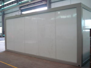 Low Cost Steel Movable Polystyrene Sandwich Panel Container Homes pictures & photos
