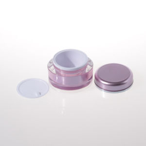 15g 30g 50g Pink Acrylic Double Wall Jar Cosmetic Jar pictures & photos