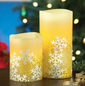 Unique Design Snowflake Flameless Candles, LED Candles pictures & photos