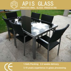 6mm 8mm 10mm 12mm Printing Tempered Glass for Tabletop Glass Table with Ce Certificate pictures & photos
