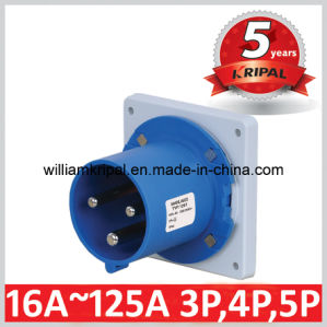 IP44 63A 2p+E Industrial Panel Mounted Plug pictures & photos