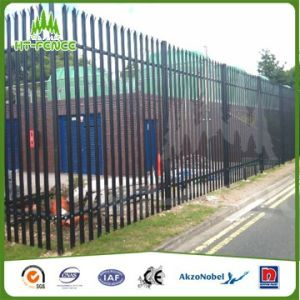 High Security Galvanized Palisade Fence with Razor Wire pictures & photos